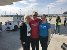 Bjørn Kjos med UNICEF-repræsentanter