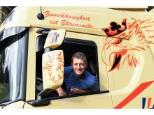 Reinhold Taus, Lkw-Fahrer beim Transportunternehmen Franz Tscherntschitsch