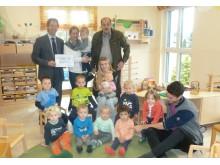Spendenübergabe im Kindergarten St. Jakob