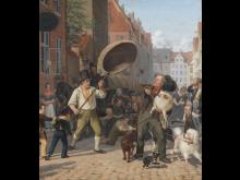 Wilhelm Marstrand, 'En gadescene i hundedagene', 1832. Statens Museum for Kunst. Public domain (SMK FotoJakob Skou-Hansen)
