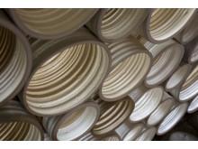 Martin Woll Godal, Steps, 2018, installation, drejad stengodslera