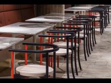Stolar på Café Plattan, Kulturhuset