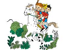 Pippi Tommy och Annika på Lilla Gubben