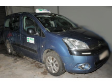 The vehicle after it had been recovered by police