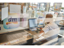Kassenbereich im dm-Markt