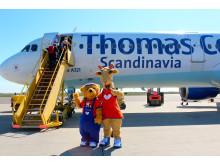 Maskotterne Lollo og Bernie har flere gange været på Bornholm for at ønske god ferie til de rejselystne øboere.
