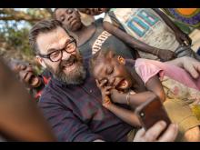Klaus Sonstad og Nanah i Sierra Leone