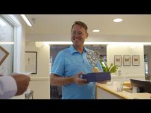Tandläkare Johan Hagman tilldelades Guldhjärtat 2020.