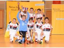 Dreimaliger Sieger: Die E-Jugend des FC Bayern München geht als Titelverteidiger und Mitfavorit ins Turnier.
