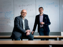 L-r: Professor Gennady El and Dr Antonio Moro, of Northumbria University's Department of Mathematics, Physics and Electrical Engineering.
