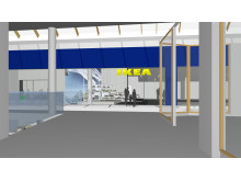 IKEA Kållered interiören när man kommer in från entrén på den östra sidan, första våningen
