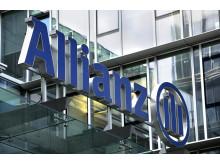 Allianz logo on building