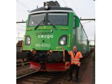 Johnny Halvarsson provkör Green Cargos Transmontanalok