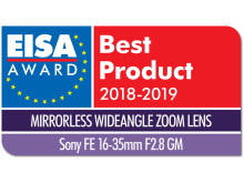EISA Award Logo Sony FE 16-35mm F2.8 GM dropshadow