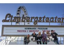 "Carina Lidbom, Thomas Petersson, Annika Anderson, Robin Stegmar, Anna-Karin Palmgren, Adde Malmberg ""Tresteg i Snedsteg"" Lisebergsteatern 2015"