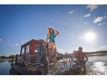 Floß auf dem Wentowsee