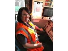Driver Laura McDonald