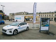 IONIQ electric klar for prøvekjøring på Oslo S