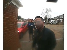 CCTV image of two men officers would like to speak to in relation to a fraud in Stoke Poges
