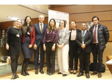 Panelen som deltog vid lanseringen av FORB Learning Plattform