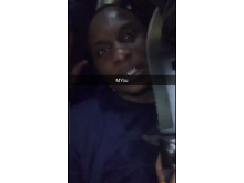 Abel Buafo with knife on Snapchat