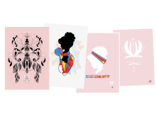 Illustrationer av kvinnor i Kongo