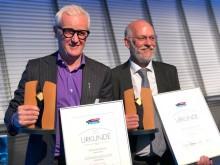 Frank Brormann mit Prof. Jürgen Peterseim - Seifriz-Preis 2018