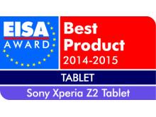 Vuoden 2014-2015 tabletti Euroopassa: Xperia Z2 Tablet