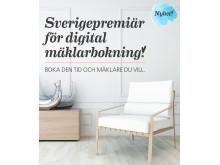 Premiär för digital mäklarbokning.