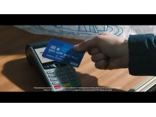 Kampania reklamowa Visa na Zimowe Igrzyska Olimpijskie PyeongChang 2018 - screen ze spotu_płatność kartą Visa