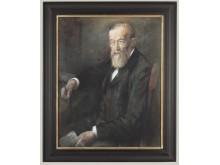 Bildnis des Psychologen Wilhelm Wundt von Heinz Wagner, Öl auf Hartfaser