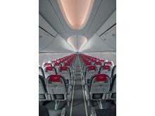 Norwegians første fly med det nye Dreamliner-interiøret Boeing SKY