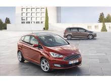 Nye Ford C-MAX i rødt og Grand C-MAX i grått