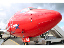 Morro de avion de Boeing 737 de Norwegian -'red nose'