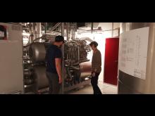 Lasse Lanng Pedersen and Martin Vang Jeppesen giving a virtual tour around our datacenter