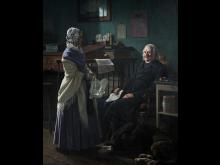 Wilhelm Marstrand, 'Dobbeltportræt af købmand Christopher Friedenreich Hage (1759-1849) og hans hustru Arnette f. Just (1778-1866)'. Nivaagaards Malerisamling