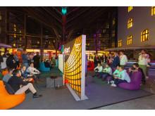 eSport-Woche n der Kundenhalle der Stadtsparkasse München