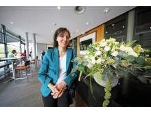 Innenarchitektin der neuen Sportsbar, Jacqueline Fox