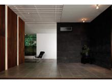 Miljøbilde av ZEN designvarmepumpe SORT