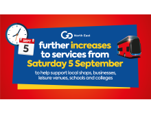 Further increases to services from 5 September