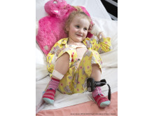 Four year old Maci Walford, the first patient to take part in the RAPID trial