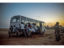 Bus stuck in Benin