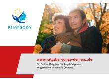 Postkarte zum Online Ratgeber für Angehörige von jüngeren Menschen mit Demenz