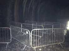 Placed Barriers in Tunnel