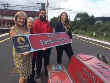 Jane Sutton and the Virgin Trains team at Birmingham International