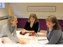 Arbetsmöte om kommunikationsplanering på Skara kommun.