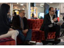 C. Papis, P. Ortoleva, S. Labrousse - Conferenza stampa TV Sony 4K Android TV