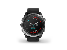 Garmin Descent Mk2 Schwarz Analoges Watchface