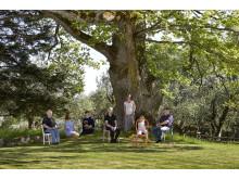 Bild från fotoutställningen med storytelling. Foto: Thomas Harrysson