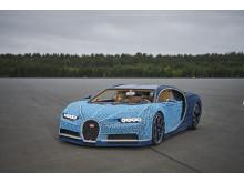 En Bugatti Chiron byggd helt i LEGO® Technic™ bitar